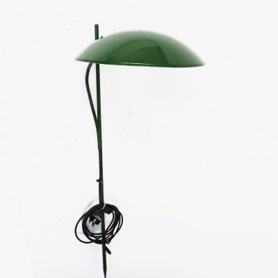 Green Dome Shaped Outdoor Lawn Light, 1970s