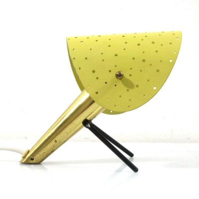 Rare metal table lamp by Ernest Igl for Hillebrand, 1950s
