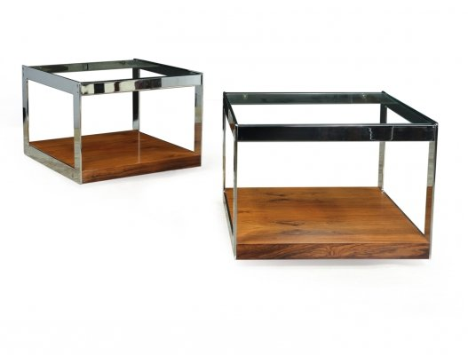 Pair of Low Side tables by Merrow Associates, 1960
