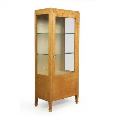 Art Deco Display Cabinet in Karilean Birch, c1930