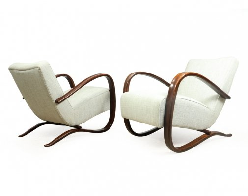 Pair of H269 Chairs by Jindrich Halabala for Thonet