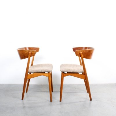 Pair of No. 7 dining chairs by Helge Sibast for Sibast, 1960s