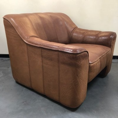 Thick neckleather De Sede DS 44 chair, 1970s