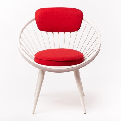 Vintage Scandinavian design Circle chair by Yngve Ekström, 1950's