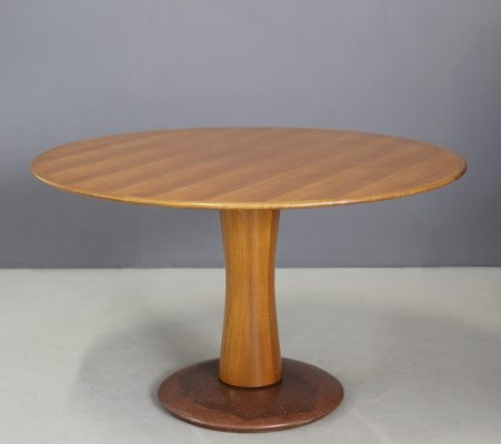 Mid-Century Marble & Wood Dining Table by Paolo Buffa, 1950s