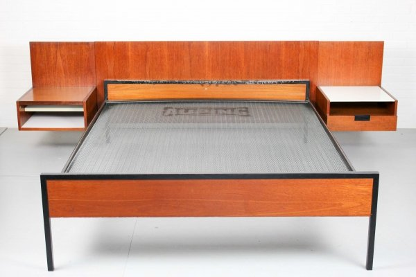 Cees Braakman Japanese Series Headboard & Bed by Pastoe & Auping