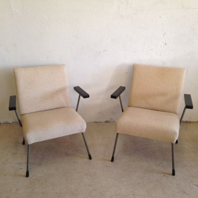 Pair of Model 1407 arm chair by W. Rietveld & A. Cordemeyer for Gispen, 1950s