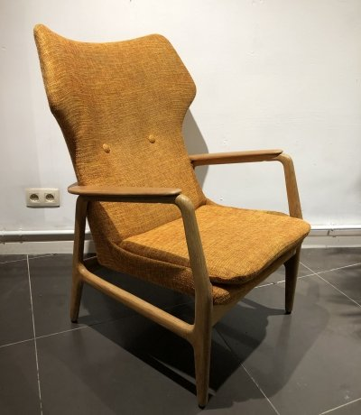 High back lounge chair by Aksel Bender Madsen for Bovenkamp, 1950s
