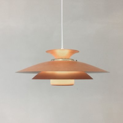 Danish Type 1091 hanging lamp by Jeka Metaltryk, 1970s
