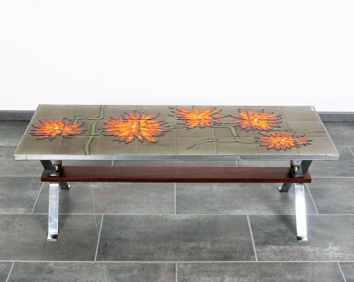 Tiles coffee table by Adri Belgique, 1960s