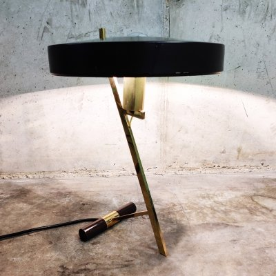 Vintage Louis Kalff Diplomat or Z model table lamp, 1950s