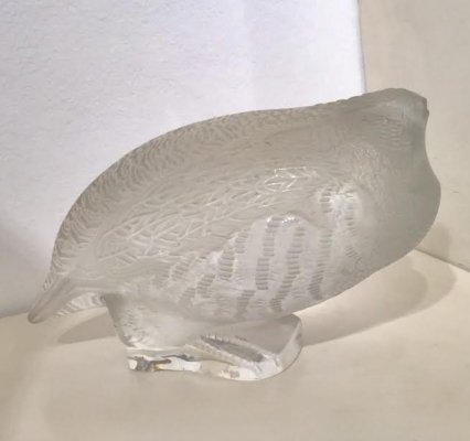 Bird Sculpture In Glass By Lalique, France