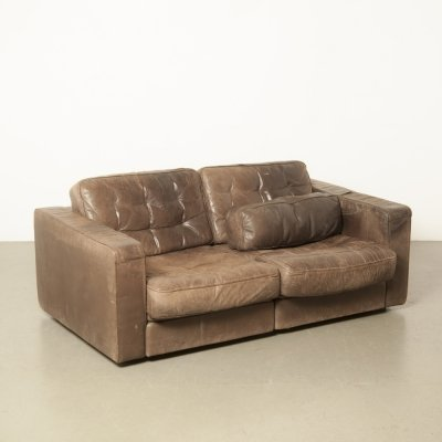 De Sede Exclusive 2-seater lounge sofa/couch in brown leather