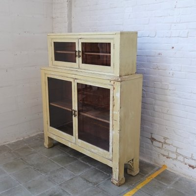 Vintage champagne colored kitchen cabinet
