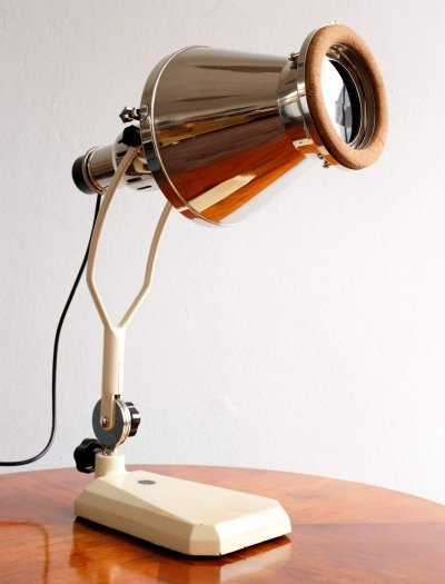 Industrial Table Lamp by Tesla Czechoslovakia, 1950s