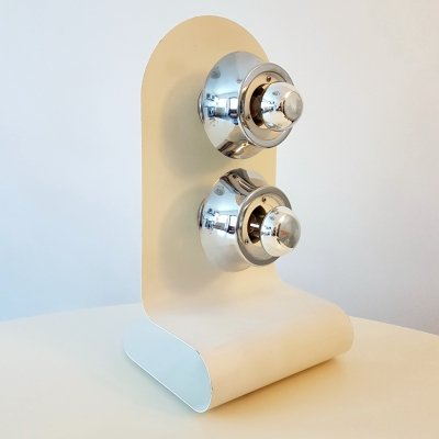 Metal space age table lamp, Italy 1970s