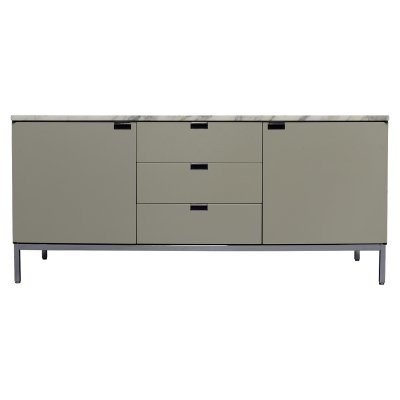Florence Knoll sideboard in pastel grey/green & marble, USA 1961