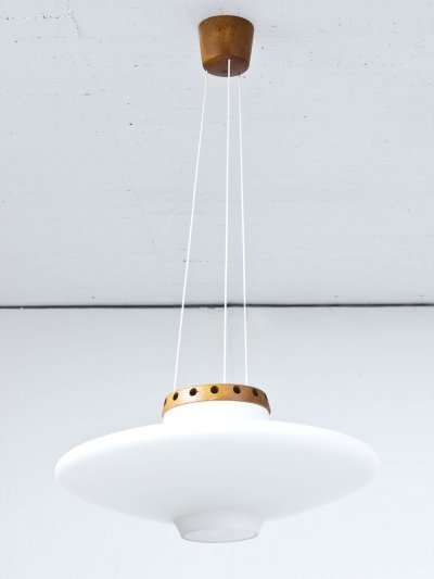 'UFO' glass pendant lamp by Uno & Östen Kristiansson