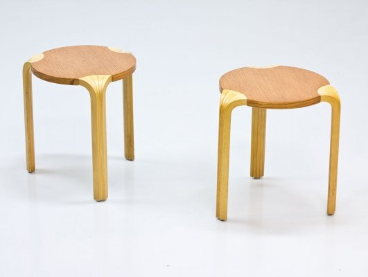 Pair of X600 stools by Alvar Aalto