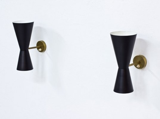 Swedish Sconces by Alf Svensson for Bergboms, 1950s