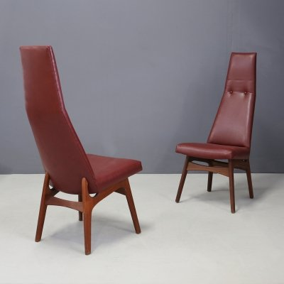 Pair of Adrian Pearsall 'King' Dining Chairs for Craft Associates, 1950s