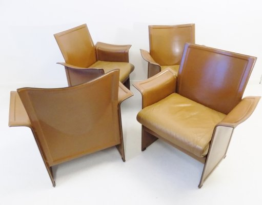 Set of 4 'Korium' dining chairs by Tito Agnoli for Matteo Grassi, 1970s