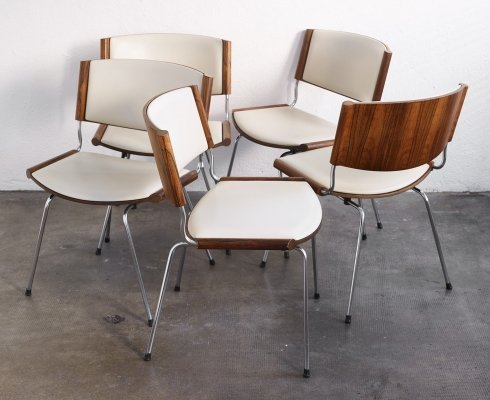 Set of 5 ND 150 dining chairs by Nanna Ditzel