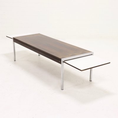 Mid Century Extendable Rosewood Coffee Table by Topform, 1960s
