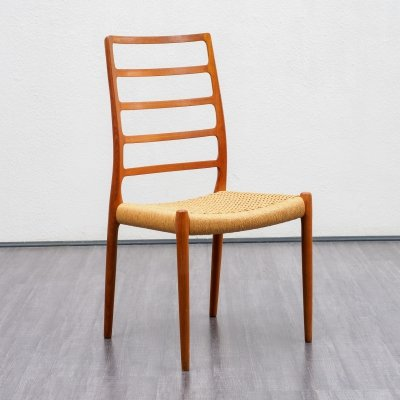 Vintage N. O. Møller model 82 chair in teak, Danish design 1950s