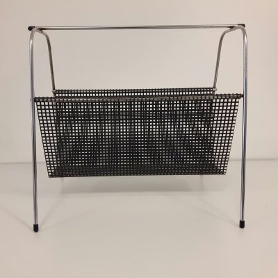 Pilastro magazine holder in black, 1950s