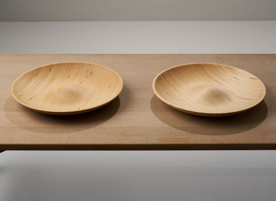 Four wooden dishes by Antti Nurmesniemi, Finland 1970s - 1980s