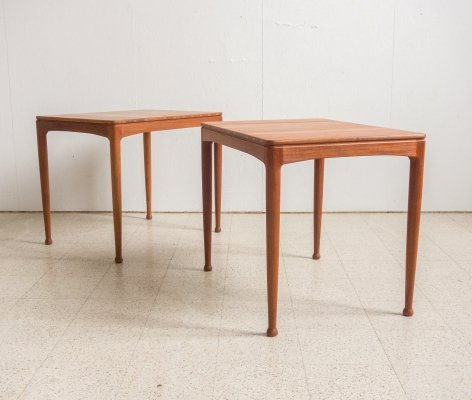 Solid teak side tables by Sven Engström & Gunnar Myrstrand