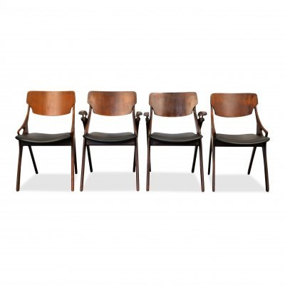 Set of 4 Vintage Danish teak dining chairs, 1960s