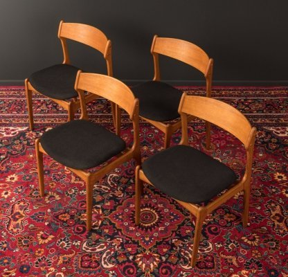 Set of 4 dining chairs by Erik Buch for O.D. Møbler, Denmark 1950s