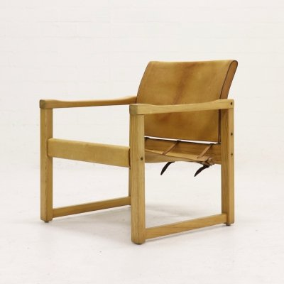 Pine & Leather Safari Chair by Karin Mobring for IKEA, 1970s