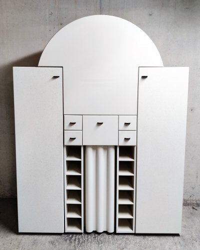 Interlübke Bar Cabinet with Fold-Down Plate, Germany 1970s