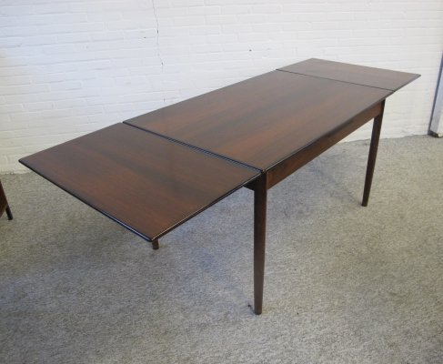 Vintage Extendable rosewood dining table, 1960's