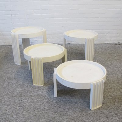 Set of four Gianfranco Frattini for Cassina 'Marema' Nesting Tables, 1960s
