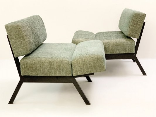 Pair of Italian 'Panchetto' Reclining Chairs by Rito Valla for IPE, 1960s