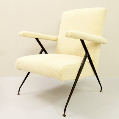 Pair of Italian Armchairs With Adjustable Backrests, 1950s