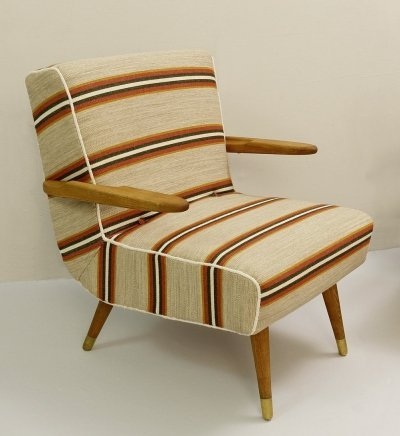 Pair of Hungarian Armchairs, 1950s