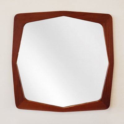 Danish teak mirror by M. J. Spejle, 1960s