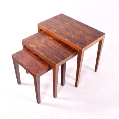 Mid Century Rosewood Nesting Tables by Severin Hansen for Haslev
