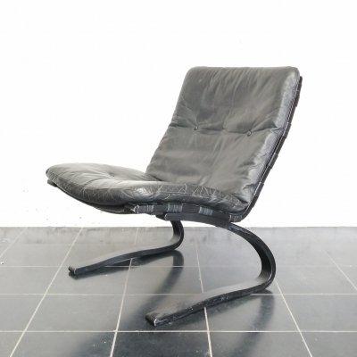 Black easy chair by Ingmar Relling for Westnofa