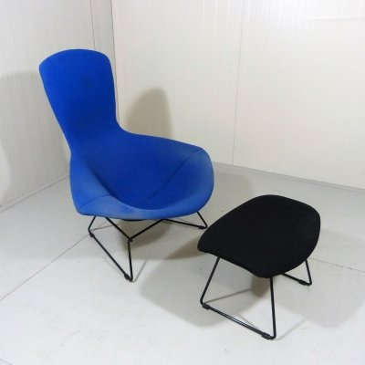 Harry Bertoia Bird Lounge Chair & Footstool, 1980s