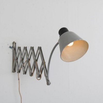 Scissor wall lamp by Belmag, Switzerland 1950s