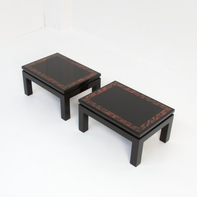 Stylish Pair of Side Tables by Jean Claude Dresse