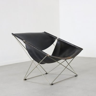 Early F675 'Butterfly' lounge chair by Pierre Paulin for Artifort, NL 1963