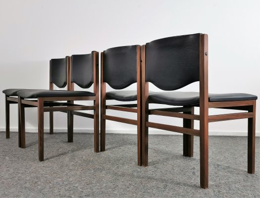 Set of Four Dutch Teak Dining Chairs, 1960's