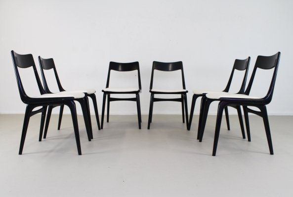 Set of 6 Boomerang dining chairs by Alfred Christensen for Slagelse Møbelværk, 1960s